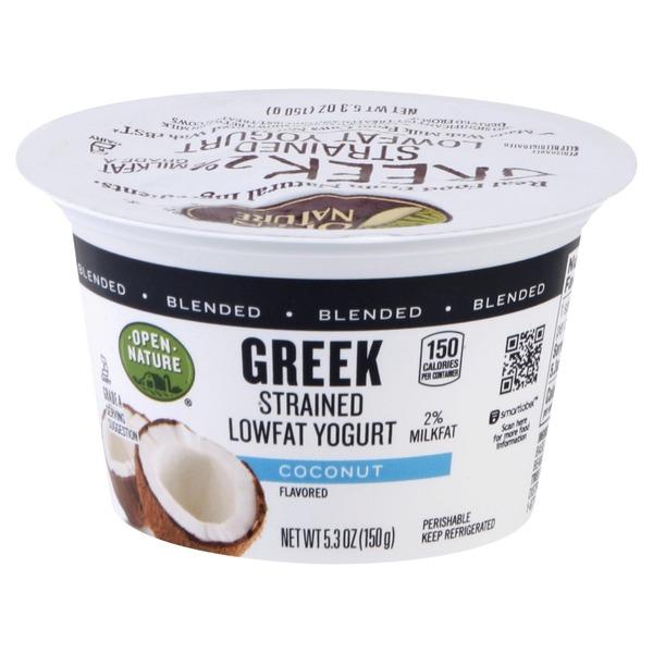 Open Nature Yogurt, Greek, Lowfat, Strained, Blended
