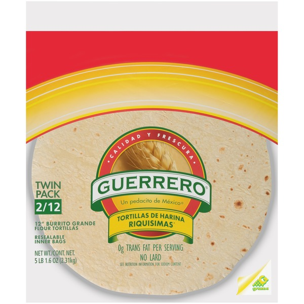 Guerrero 12 In Burrito Grande Flour Tortillas 12 Ct Instacart