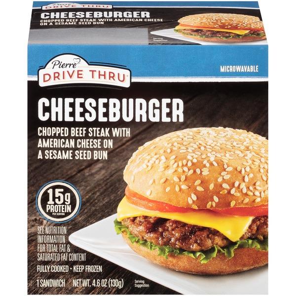 Drive Thru Cheeseburger Chopped Beef Steak With American Cheese On