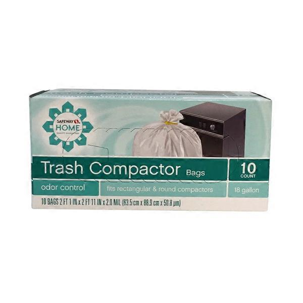 Home Trash Compactor signature kitchen odor control home trash compactor bags 18 gallon