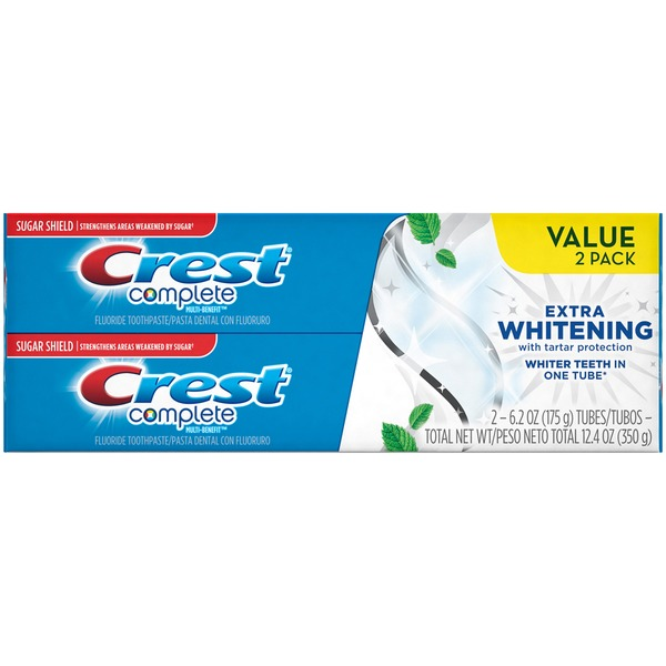Gerbes Crest Complete Multi Benefit Extra Whitening Clean Mint Fluoride