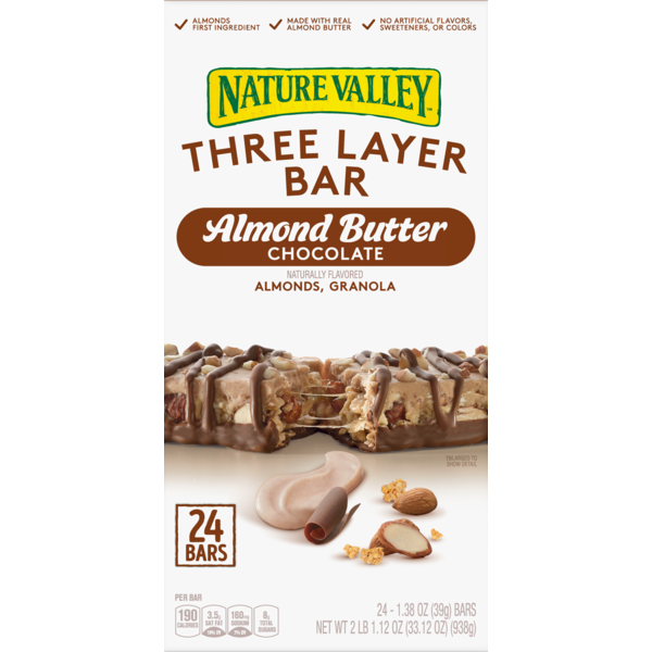 Nature Valley Layered Bars Almond Butter Granola Nut