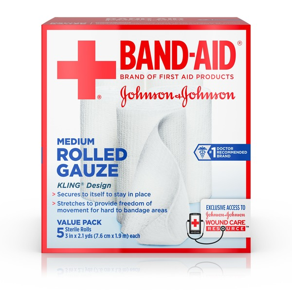 Johnson Johnson Of First Aid Products Rolled Gauze 3 Inches By