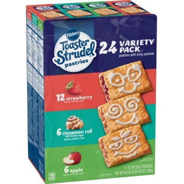Pillsbury Toaster Strudel Strawberry/Cherry/Apple Toaster Pastries Variety Pack