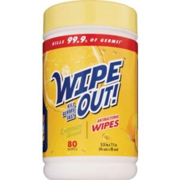 80-Count Wipe Out! Antibacterial Lemon Wipes