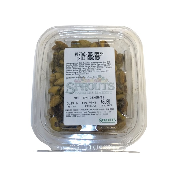 Green Hatch Chile Roasted Pistachios, Package (1 lb) from Sprouts