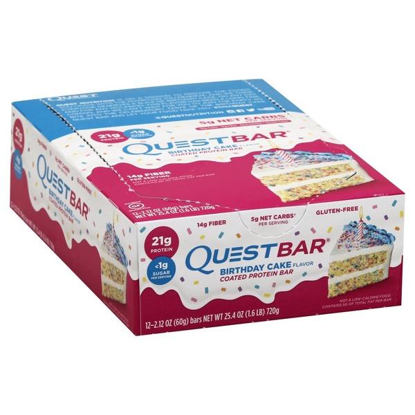 QuestR Protein Bar Birthday Cake Flavor Quest