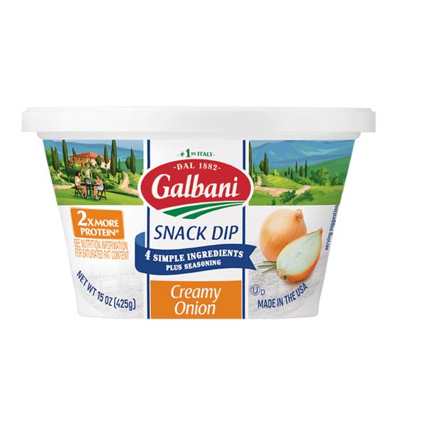 galbani dairy galbani creamy onion snack dip 15 oz  instacart