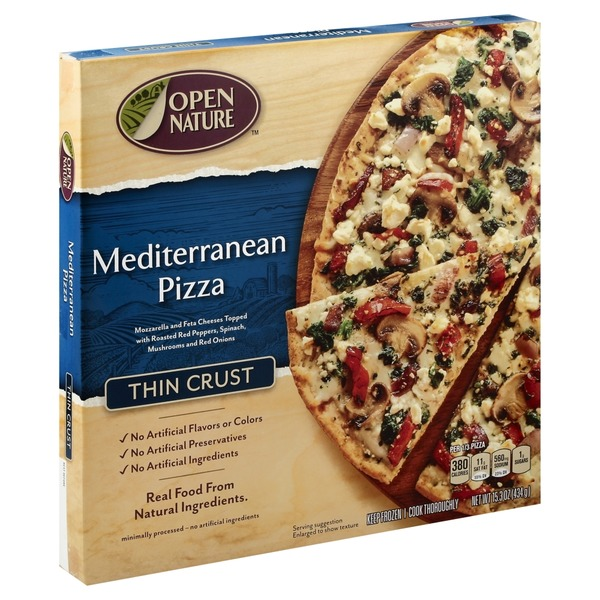 Open Nature Pizza, Thin Crust, Mediterranean (15 3 oz) from