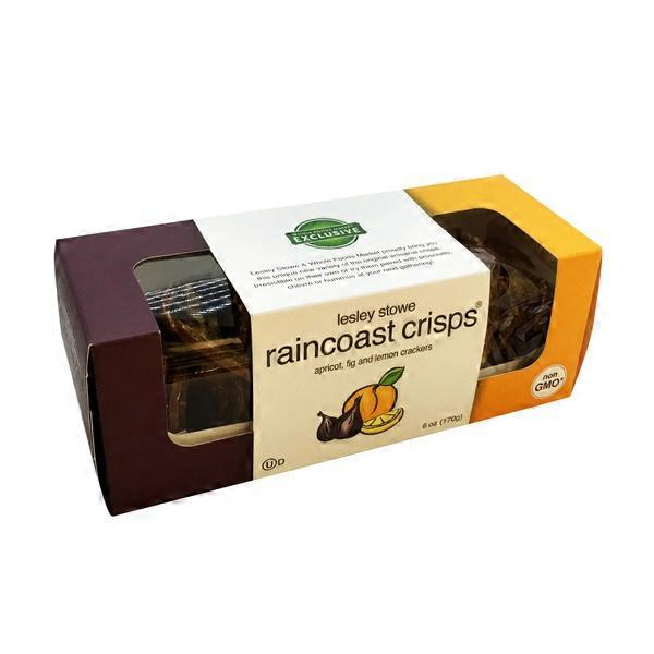 Lesley Stowe Crackers, Apricot, Fig and Lemon, Raincoast Crisps