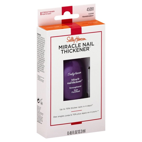 Sally Hansen Strengthener, Miracle Nail Thickener, Clear 45091 (0.45 ...