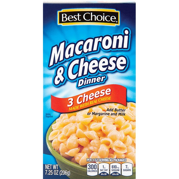 best choice 3 cheese mac cheese dinner from super save cost plus