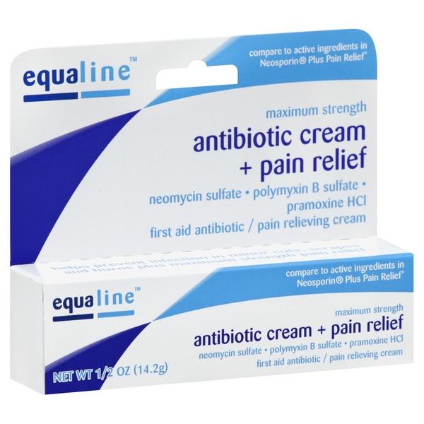 Equaline Maximum Strength Antibiotic Cream Plus Pain Relief
