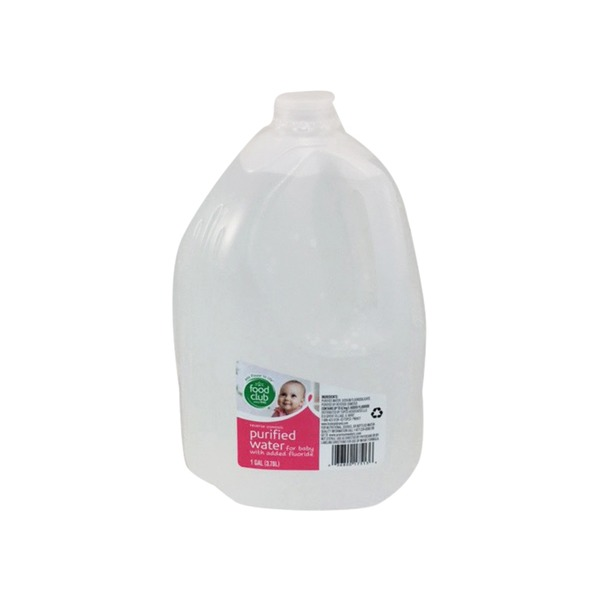 Food Club Purified Water For Baby With Added Fluoride (1 gal