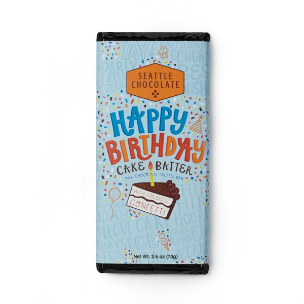Seattle Chocolates Birthday Cake Batter Truffle Bar