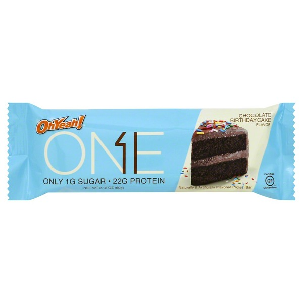 Oh Yeah Protein Bar Chocolate Birthday Cake Flavor