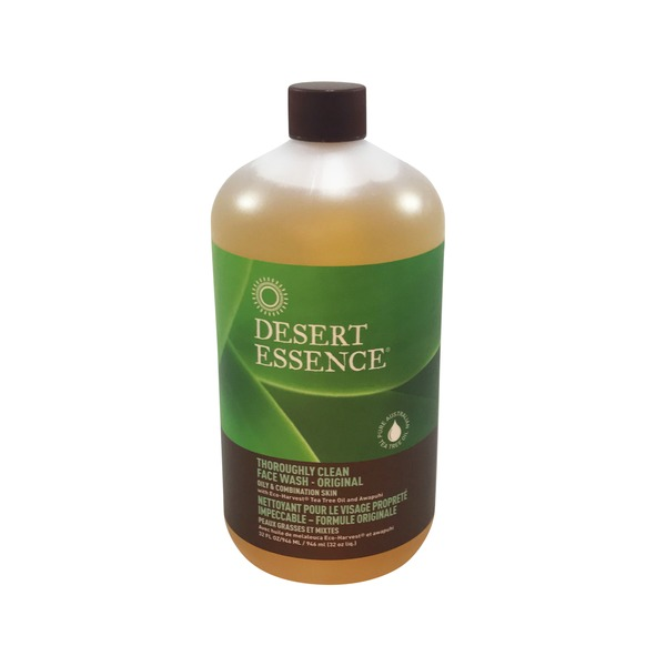 Desert Essence Thoroughly Clean Face Wash Organic Tea Tree Oil With