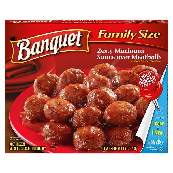 Banquet Family Size Zesty Marinara Sauce Over Meatballs (25