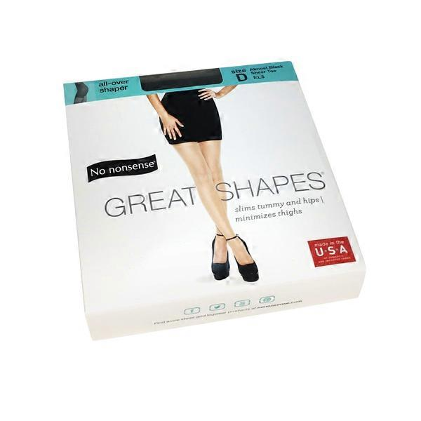 6ee8e702bdb0a No Nonsense Size D, Almost Black, Great Shapes Pantyhose All-over Shaper
