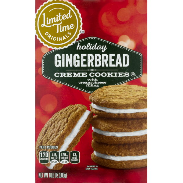 Holiday Creme Cookies Gingerbread 10 6 Oz From Giant Food Instacart