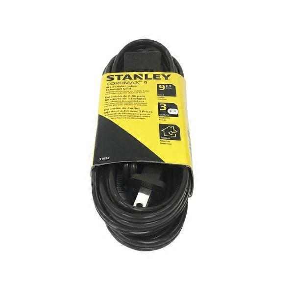 Stanley Brown 9-Foot 3-Outlet All Purpose Indoor Extension