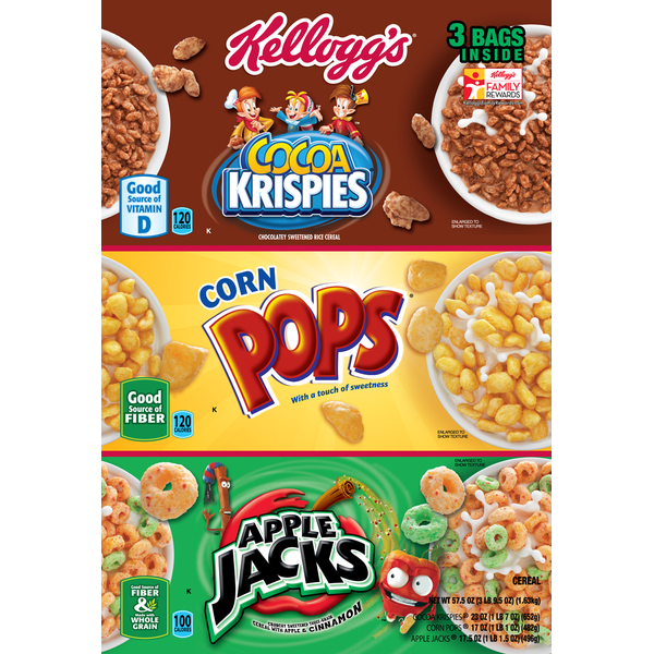 Kellogg S Cereal Variety Pack Cocoa Krispies Corn Pops