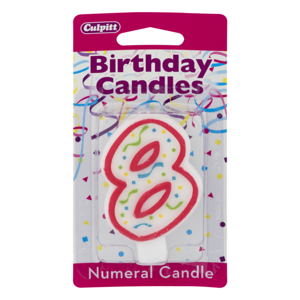 Culpitt Numeral Birthday Candle 8