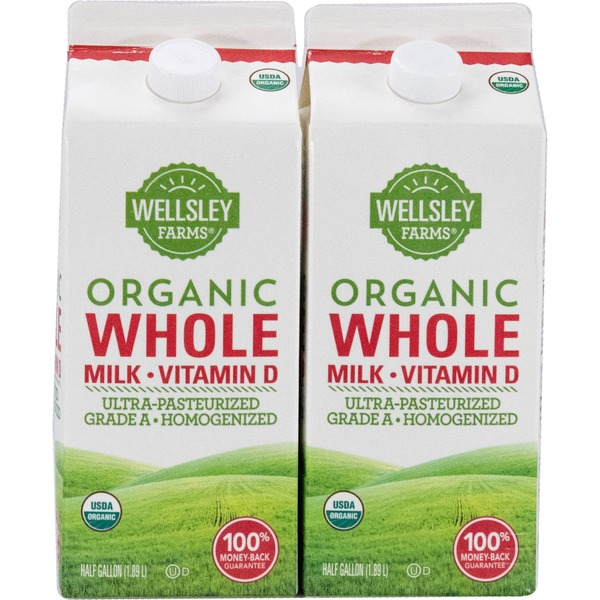 Wellsley Farms Organic Whole Milk (4 qt) from BJ's Wholesale