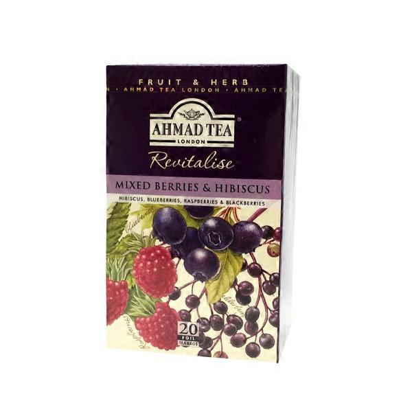 Ahmad Tea Revitalise Mixed Berries Hibiscus Herbal Tea 20 Ct