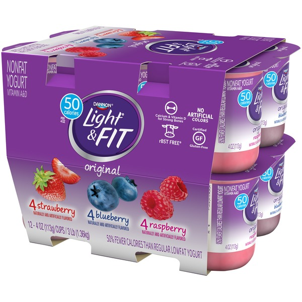 It is a graphic of Unusual Dannon Light and Fit Blueberry Greek Yogurt Nutrition Label