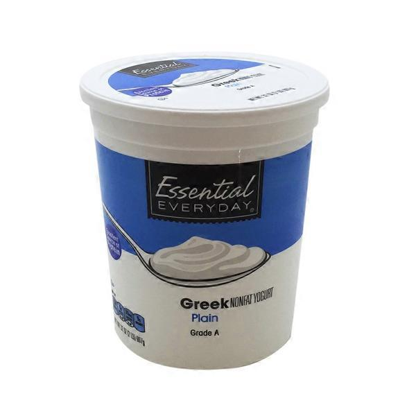 Essential Everyday Greek Nonfat Yogurt Plain 32 Oz From Market