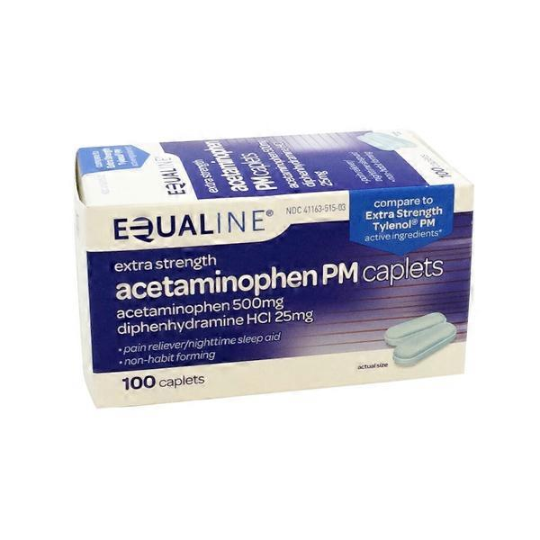 Equaline Extra Strength Pain Relief Pm Acetaminophen