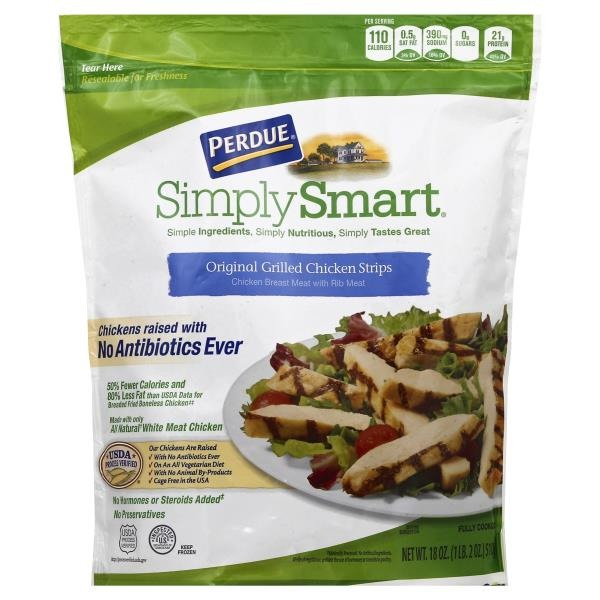 Perdue Simply Smart Original Grilled Chicken Strips 18 Oz From