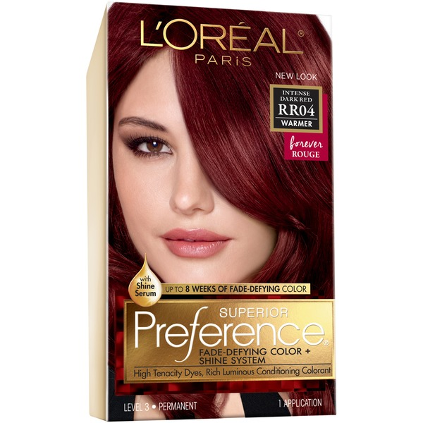 Superior Preference Warmer Rr04 Intense Dark Red Hair Color From