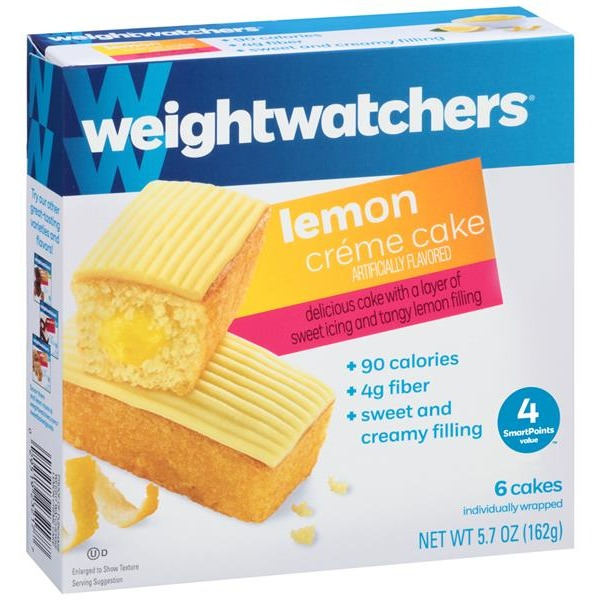 Weight Watchers Sweet Baked Goods Lemon Creme Cake From Publix