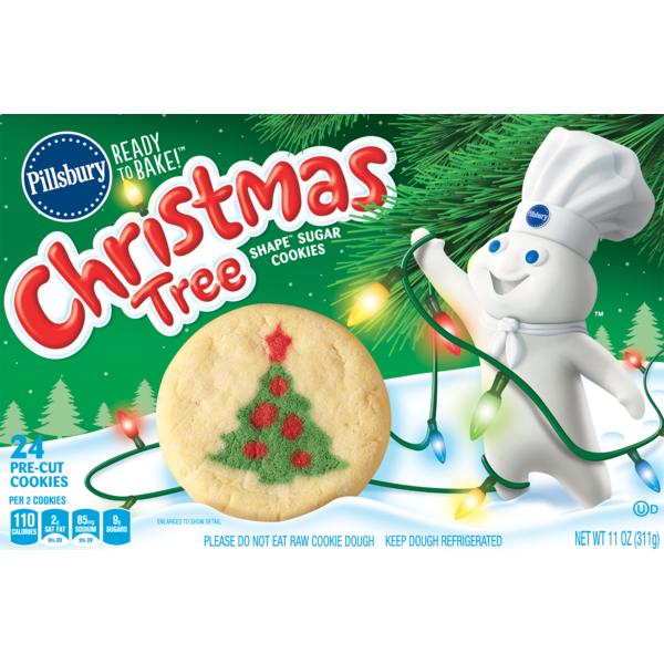 Pillsbury Ready To Bake Christmas Tree Shape Sugar Cookies 11 Oz