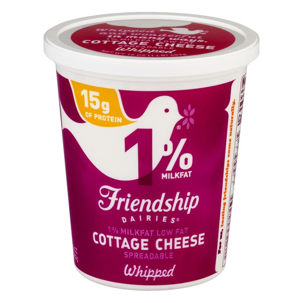Friendship Dairies 1% Milkfat Low Fat Cottage Cheese Whipped