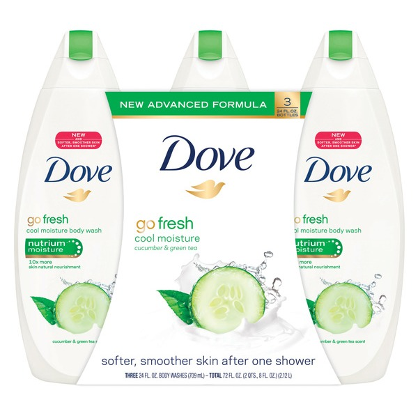 bea3281d42f Dove Body Wash Cucumber And Green Tea (24 oz, pack of 3) from Costco ...