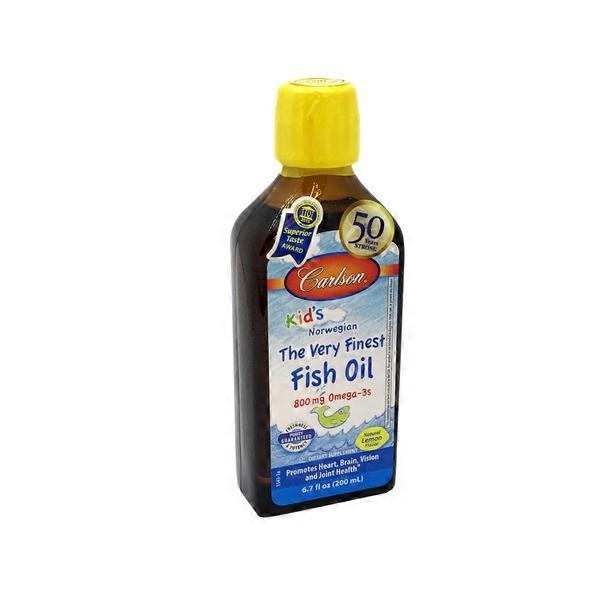 Carlson labs kids lemon flavor fish oil from whole foods for Whole foods fish oil