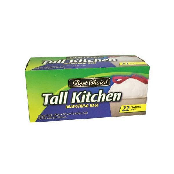 Best Choice Drawstring Tall Kitchen Trash Bags (22 ct) from ...