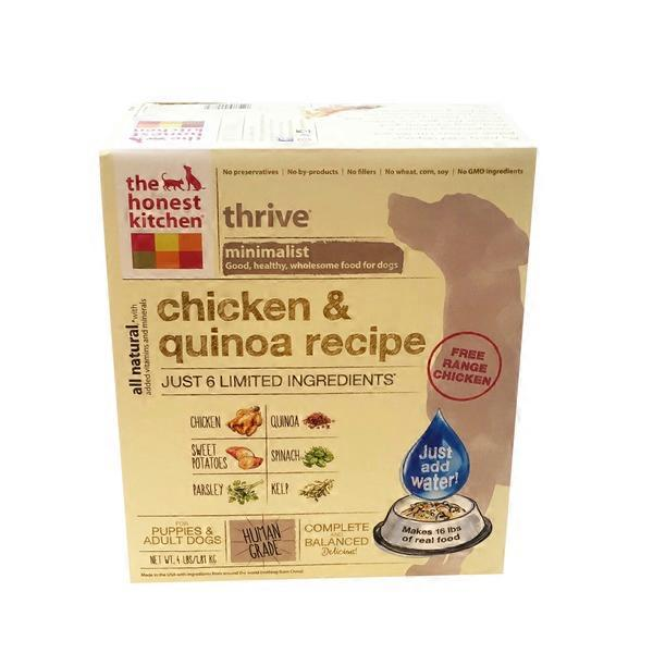 The Honest Kitchen Thrive Minimalist Chicken Quinoa Recipe
