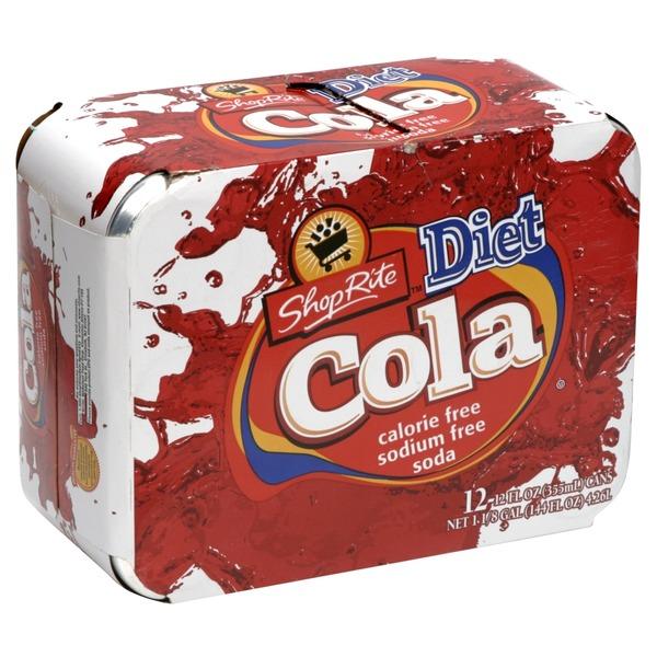 Shop Rite Soda Diet Cola 12 Fl Oz From Shoprite Instacart