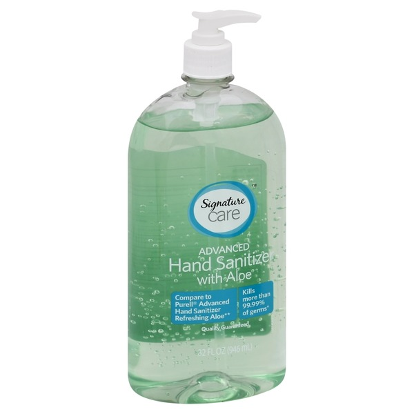Signature Care Hand Sanitizer, Advanced, with Aloe (32 oz