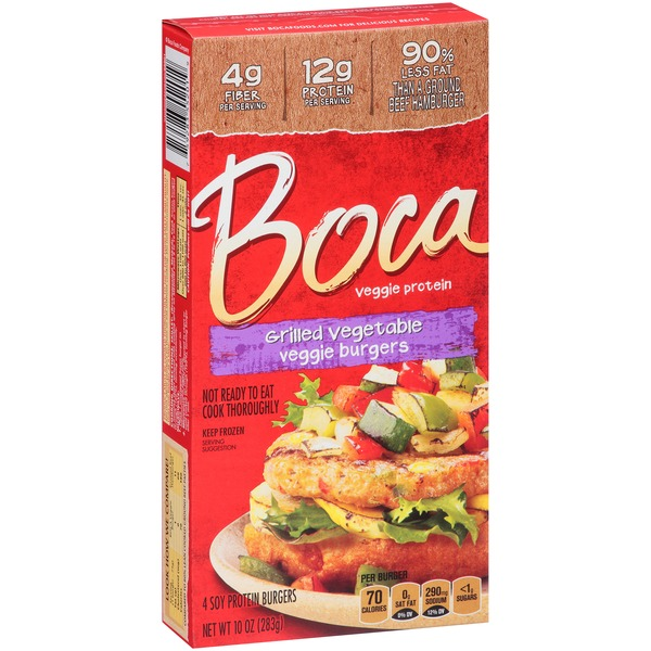Boca Grilled Vegetable Veggie Burgers (10 oz) from Giant