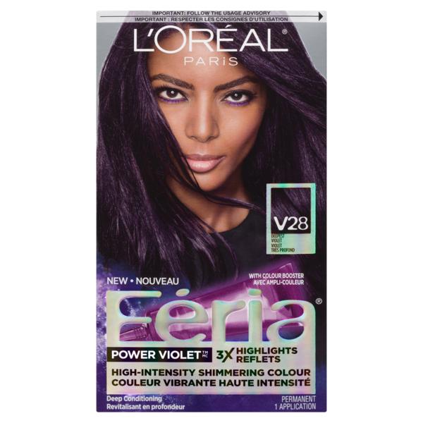 Feria High Intensity Shimmering Colour Power Violet V28 Deepest