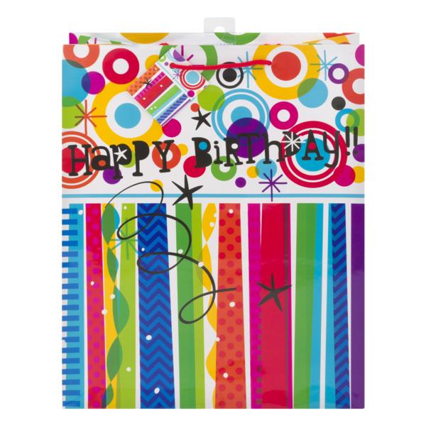 Unique Gift Bag Mod Rainbow Happy Birthday