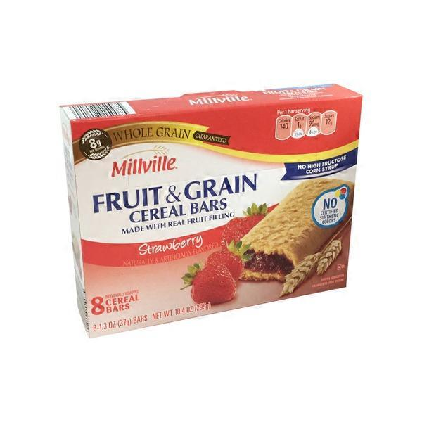 Millville Strawberry Fruit & Grain Cereal Bars From ALDI