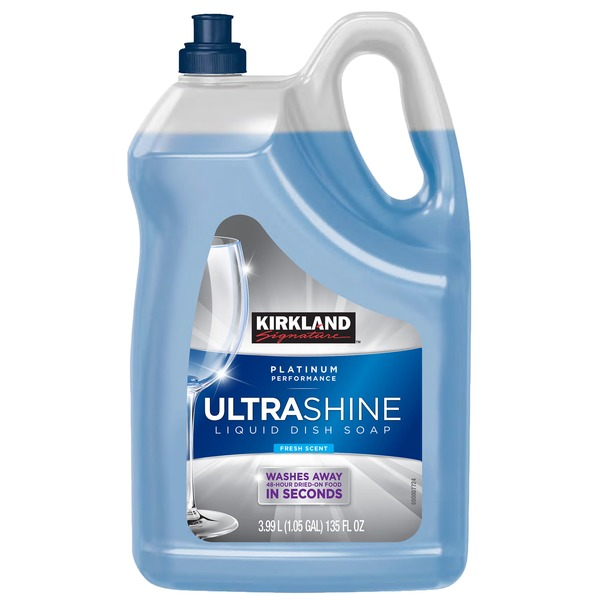Kirkland Signature Ultra Shine Liquid Dish Soap, 135 oz (135