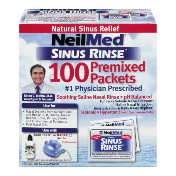 Neilmed Sinus Rinse Regular Refill Packets From Shaw S Instacart