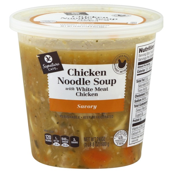 Signature Cafe Savory Chicken Noodle Soup With White Meat Chicken from Vons - Instacart
